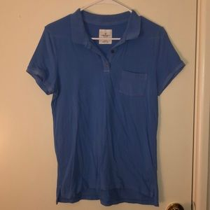 Blue short sleeve polo with front pocket
